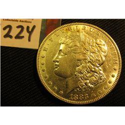 1883 P Morgan Silver Dollar. AU.