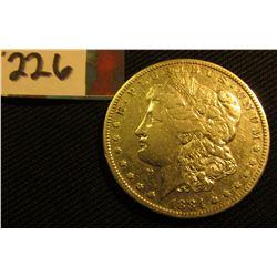 1884 P Morgan Silver Dollar. VF.