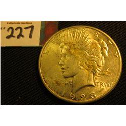 1923 S U.S. Peace Silver Dollar. VF.