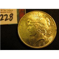 1923 P U.S. Peace Silver Dollar. AU.