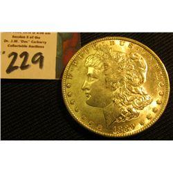 1889 P Morgan Silver Dollar. AU.