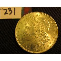 1921 P Morgan Silver Dollar. Brilliant Unc.