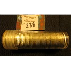1962 D Original BU Roll of Roosevelt Silver Dimes in a plastic tube.