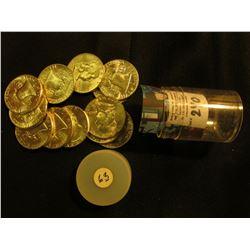 (12) 1963 P Franklin Half-Dollars in a plastic tube. BU.