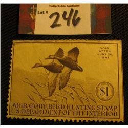 1940 RW7 Mint, not hinged Migratory Bird Hunting Stamp.