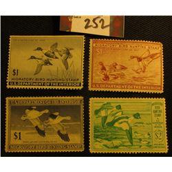 1945 RW12 Mint, NG; 1946 RW13 Mint, partial gum; 1947 RW14 Mint, partial gum, crease; & 1949 RW16, M