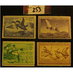 1949 RW16, Mint, hinged; 1950 RW17 Mint, Hinged; 1952 RW19, Mint, Hinged; & 1953 RW20, Mint, Hinged