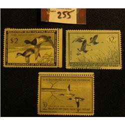 1954 RW21, Mint, Hinged; 1955 RW22, Mint, NG; & 1956 RW23, Mint, Hinged Migratory Bird Hunting Stamp