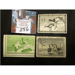 1954 RW 21, Mint, No Gum, 1957 RW24, Mint Hinged 1958 RW 25, Mint Gum Disturbance Migatory Bird Hunt
