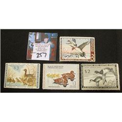 1951 RW 21, Mint Hinged, 1960 RW27, Mint Hinged, 1961 RW28 Mint Hinged, 1962 RW29 Mint Hinged Migato