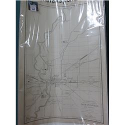 "Rand McNalley Map of Indianapolis dated 1915. 14"" x 20.5"". Ready to Frame."