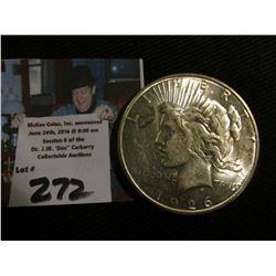 1926 S U.S. Peace Silver Dollar. Brilliant Uncirculated.