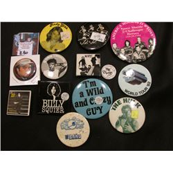 (13) Old Pin-backs from the Seventies and eighties.