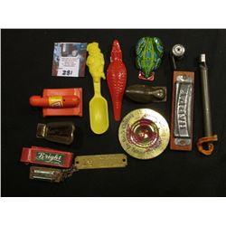 """Advertising Toys & Etc. """"Happy"""" Harmonica; """"Bright"""" Mini Harmonica; French's Mustard advertising Spo"""