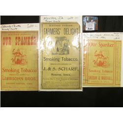 "Tobacco Box Label ""Sixteen Ounces Farmer's Delight Smoking Tobacco Manufactured Expressly for J. & S"