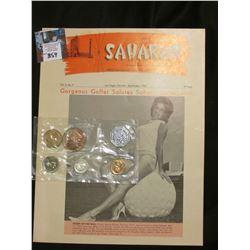 "1962 ""The Saharan"" Vol.3, No. 9 Magazine; & 1962 U.S. Silver Proof Set in original cellophane with h"