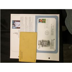 """1988 First Day of Issue Stamped Cover """"Saluting Francis D. Ouimet America's First Golfing Hero""""; & 1"""