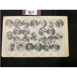 """""""Cubs, National League Champions, 1910"""" Postcard. 'Doc' had this postcard valued at $400.00."""