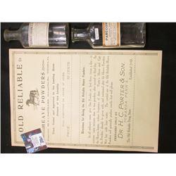 """Mapleton, Iowa Medicine Bottle """"Paregoric… Dr. F. Griffin, Druggist and Bookseller, Main Street, Map"""