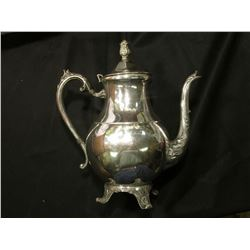 """""""1883 F.B. Rogers Silver Co."""" Coffee Pitcher with attached lid."""