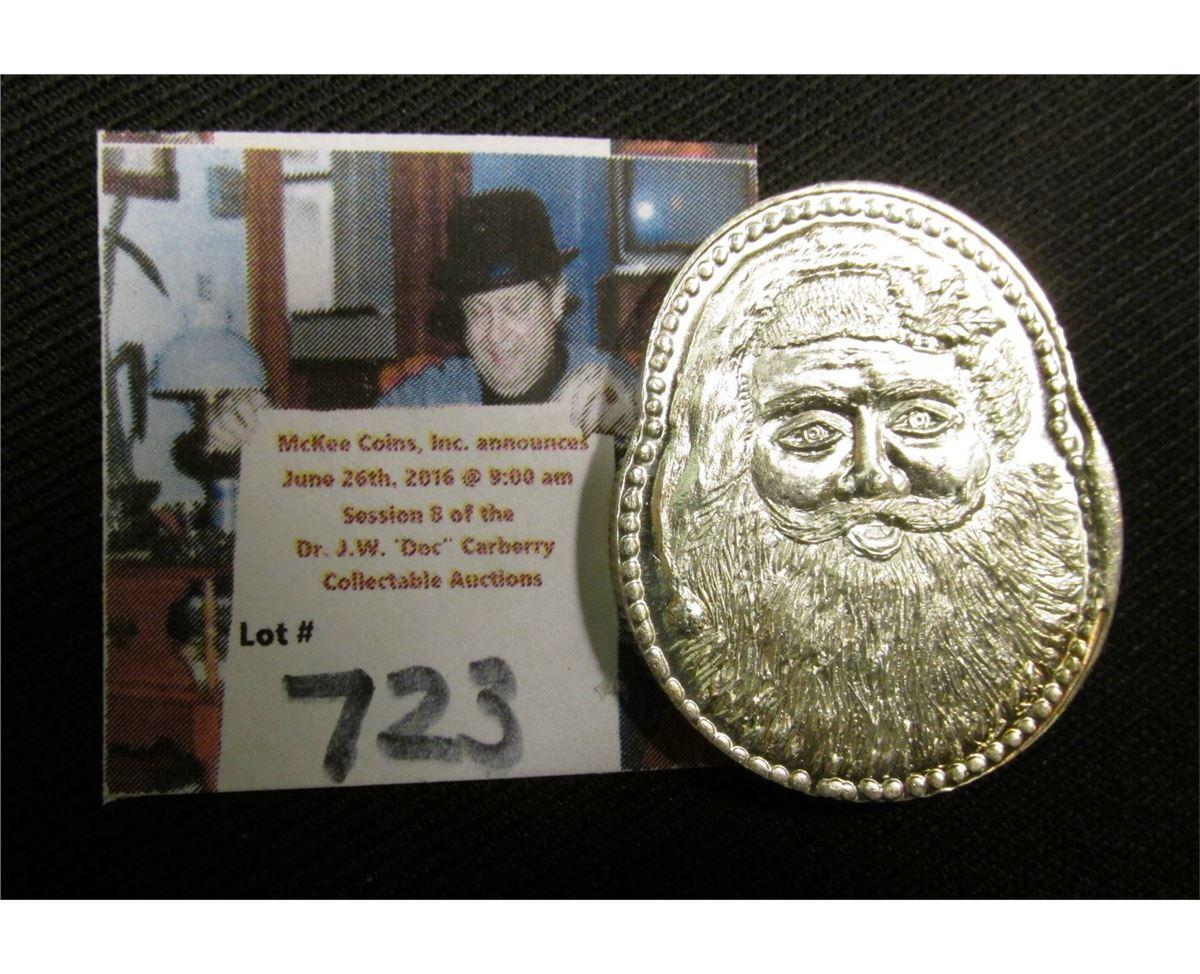 Merry Christmas Santa Claus 1 1//2 oz  .999 fine silver round coins
