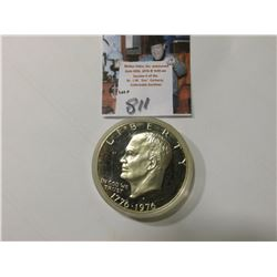1776-1976 S Esienhower 40% Silver Dollar. Proof. Encapsulated.
