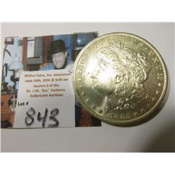 1885 O Morgan Silver Dollar, Brilliant Unc.