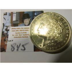 1921 P Morgan Silver Dollar, Brilliant Unc.