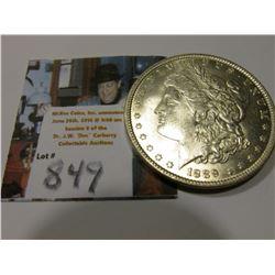 1889 P Morgan Silver Dollar, Brilliant Unc.