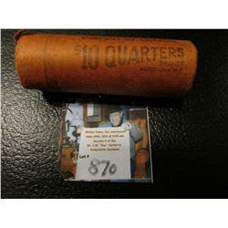 1956 D Original Bank wrapped BU Roll of Washington Silver Quarters, (40 pcs.).