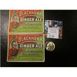 "1943 D Silver World War II Jefferson Nickel, Gem BU with Full Steps & an Antique ""Blackhawk Ginger A"