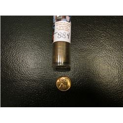 1939 S Original BU Roll of Lincoln Cents in a plastic tube. It is possible there are a few carbon sp