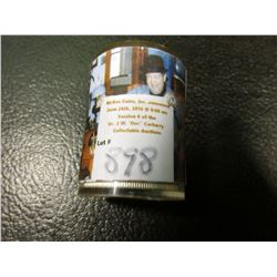1958 D Original BU Roll of Franklin Half Dollars in a plastic tube, (20 pcs.).