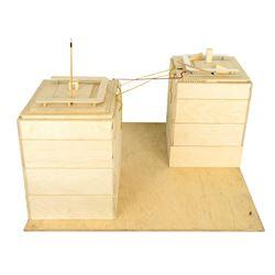 Philippe Petit (Joseph Gordon-Levitt) World Trade Center Wooden Model from The Walk