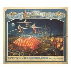 Les Diables Blancs Circus Poster from The Walk
