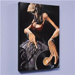 """""""DJ Jewel"""" LIMITED EDITION Giclee on Canvas by David Garibaldi, CC Numbered from Miniature Series an"""