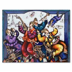 """""""Paris Festival"""" Limited Edition Serigraph (36"""" x 27.5"""") by Michael Kachan, Numbered and Hand Signed"""
