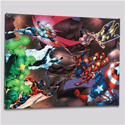 """""""New Thunderbolts #13"""" Limited Edition Giclee on Canvas by Tom Grummett and Marvel Comics, Numbered"""