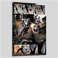 """""""Captain America #37"""" Limited Edition Giclee on Canvas by Steve Epting and Marvel Comics, Numbered w"""