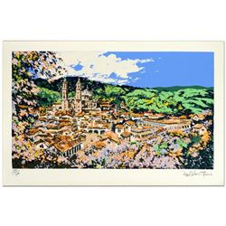 """""""Vie of Taxco"""" Limited Edition Serigraph (36"""" x 21"""") by Paul Blaine Henrie (1932-1999), Numbered and"""