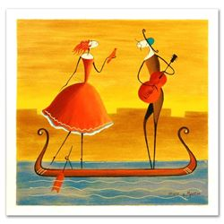 """""""Love on a Gondola"""" Limited Edition Serigraph by Ester Myatlov, Numbered and Hand Signed with Certif"""