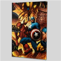 """""""New Avengers #6"""" Limited Edition Giclee on Canvas by Bryan Hitch and Marvel Comics! Includes Certif"""