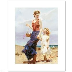 """""""Affection"""" LIMITED EDITION Artist-Embellished Giclee on Canvas by Pino (1939-2010)! AP Numbered and"""