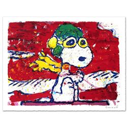 """""""Low Fat Meal Over Santa Monica"""" Limited Edition Hand Pulled Original Lithograph by Renowned Charles"""