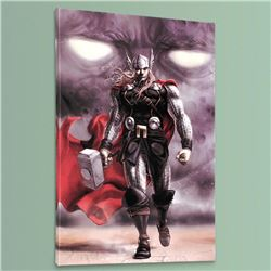 """""""Astonishing Thor #5"""" Limited Edition Giclee on Canvas by Mike Choi and Marvel Comics, Numbered with"""