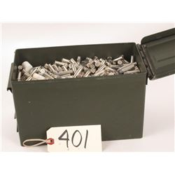 Nickel plated factory 1165 RDS 38 SPL plus P. Hollow points with ammo can