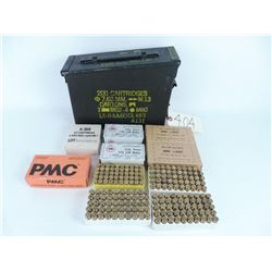 495 Rds. 9mm Assorted factory and reloads with ammo box.
