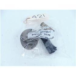 Powder pan, Weaver scope mount and 10 ga. brass shot shell casing