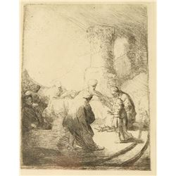 Etching by Rembrandt