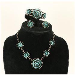 Zuni Petit Point Turquoise Set